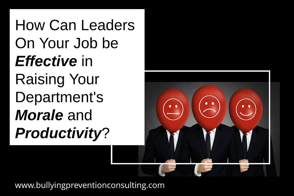 Morale, job effectiveness, productivity