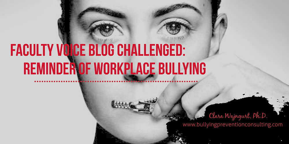 workplace bullying, higher education