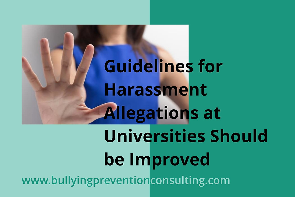 guidelines, harassment, university culture, workplace bullying