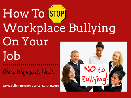 How To Stop Workplace Bullying On Your Job?