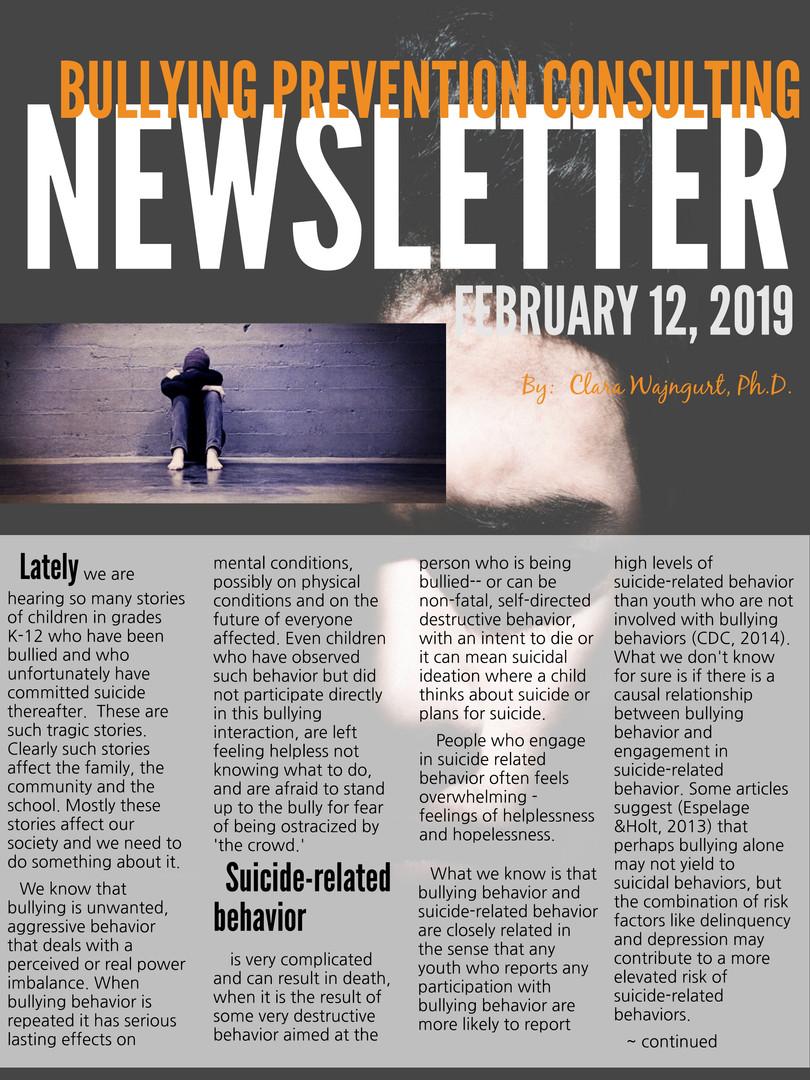 Newsletter February 2019