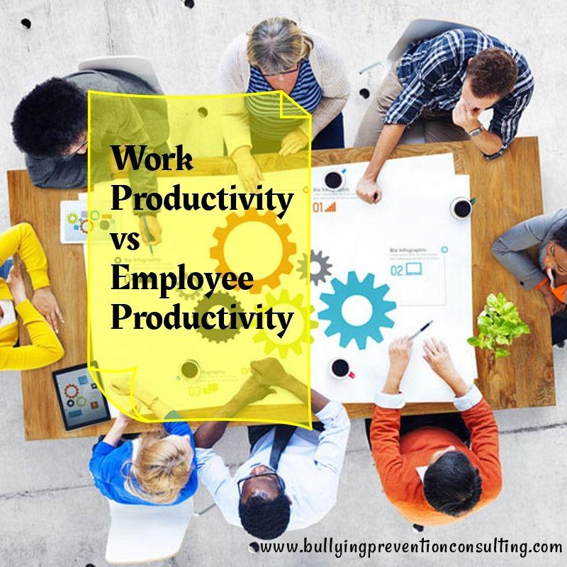 Work Productivity vs. Employee Productivity