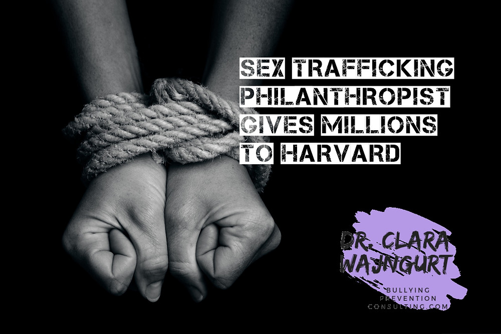 sex trafficking, universities, donations, power, power inbalance