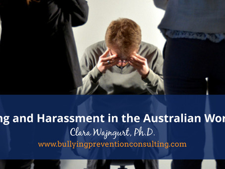 Bullying and Harassment in the Australian Workplace