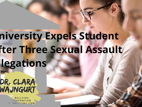 University Expels Student After Three Sexual Assault Allegations