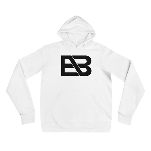Unisex White EB hoodie