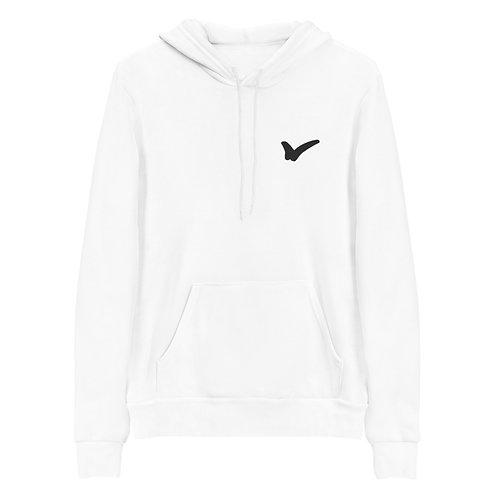 White Unisex hoodie