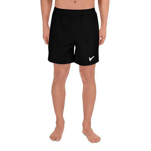 Men's Black Athletic Long Shorts