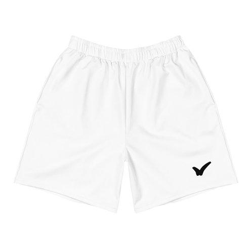 Men's White Athletic Long Shorts
