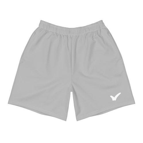 Men's Grey Athletic Long Shorts