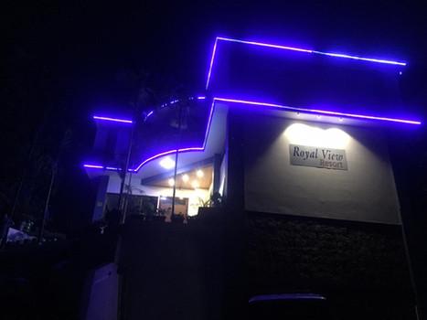 Royal View Resort at night