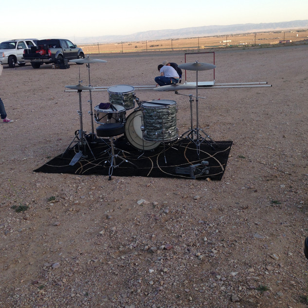 Drums in the middle of nowhere
