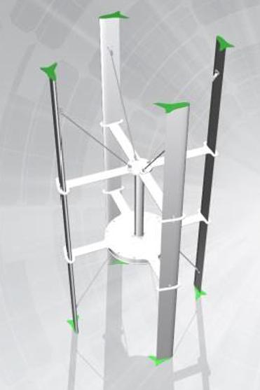 1000W Vertikalakslet turbin