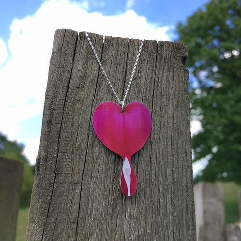 Bleeding Heart flower pendant