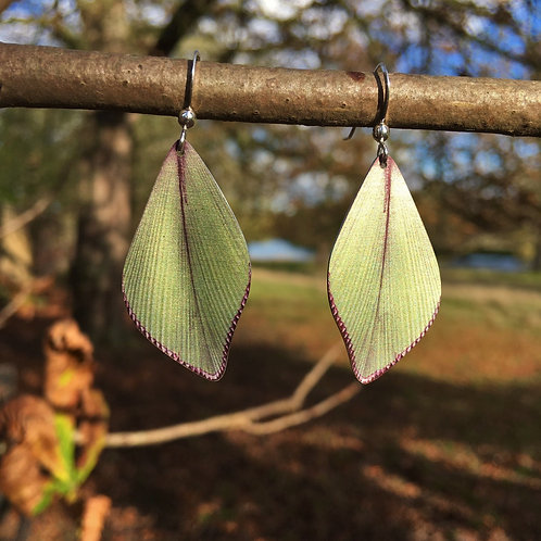 Diamond Palm leaf earrings