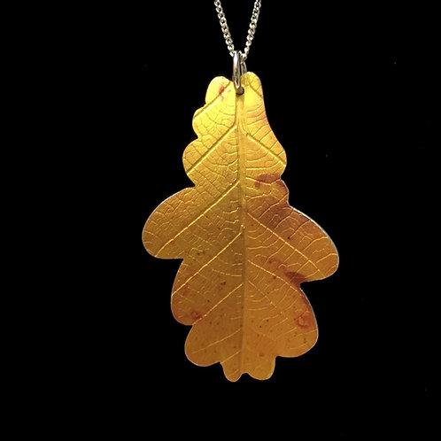 Golden Oak leaf necklace