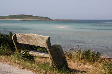Seat on Tresco, Isles of Scilly