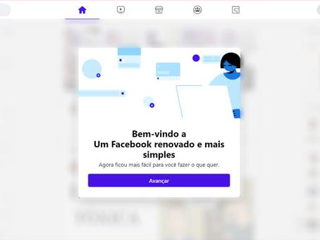 Facebook de cara nova!