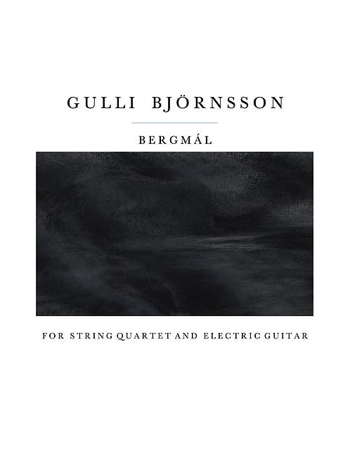 Bergmál - El. Guitar and String quartet