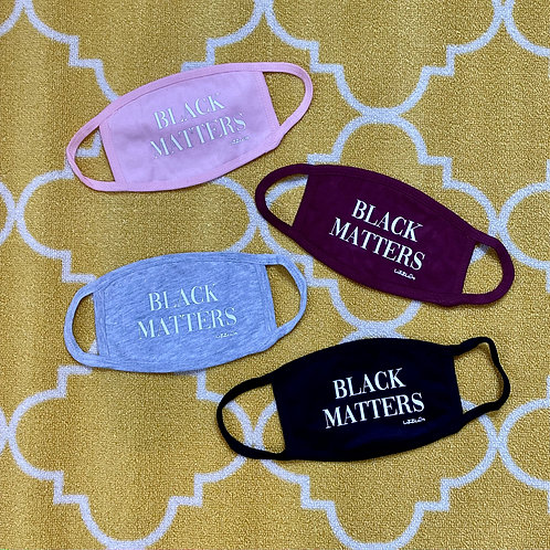 BLACK MATTERS Face masks in Assorted Colors