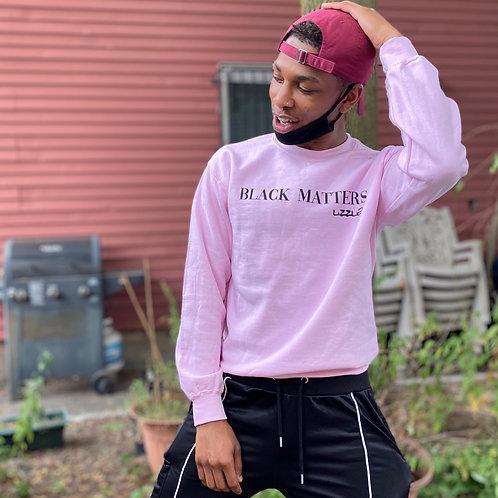 BLACK MATTERS Crewneck in Baby Pink