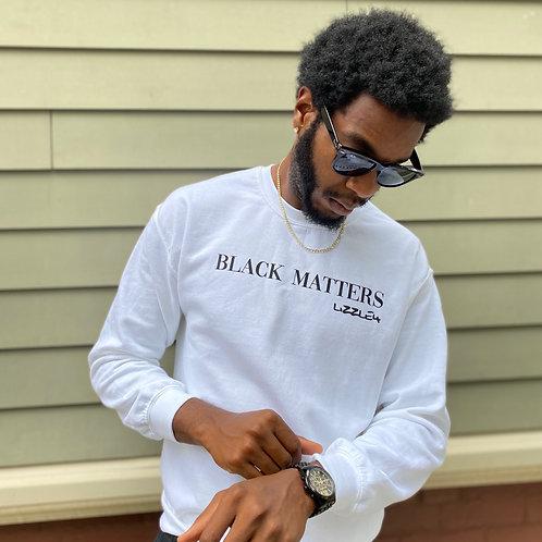BLACK MATTERS Crewneck in Fresh White