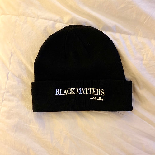 BLACK MATTERS Embroidered Winter Hat