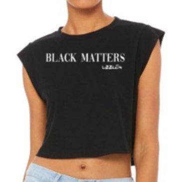 Black Matters x Lizzle4 Ladies' Crop T-shirt