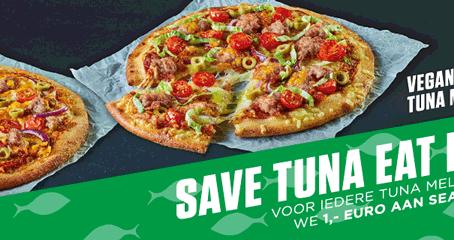 New York Pizza verkoopt een maand lang alleen visvrije tonijn