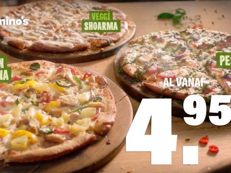 Domino's lanceert tv-campagne voor veggi pizza's