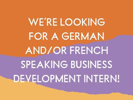 STAGE - BUMI zoekt business development stagiaire voor de Duitse en / of Franse markt