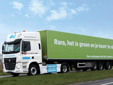 PLUS Retail heeft primeur met 100% elektrische vrachtwagen