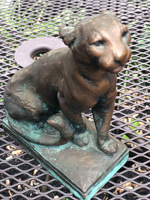 Marion Bronze Clad Panther Statuette