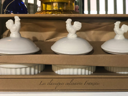 Chef Etoile 3 piece Rooster Ramekin set