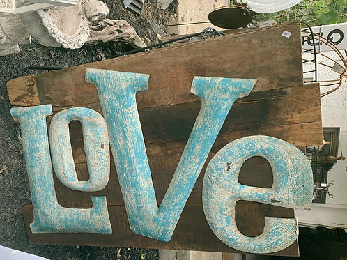 Oversized LOVE sign