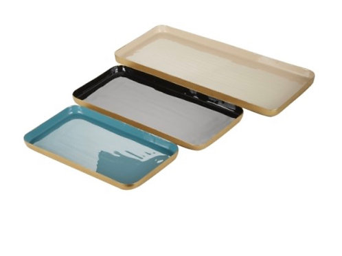 Lovely enamel tray set