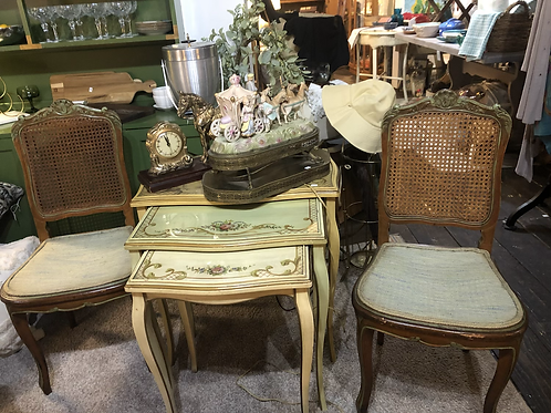 Beautiful antique nesting tables
