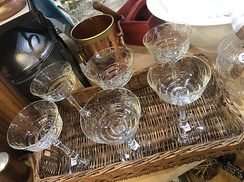 Vintage  champagne saucers/coupes