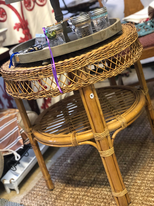 Bent wood accent table
