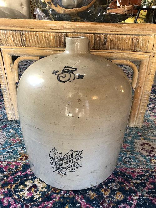 Monmouth Pottery Co of Illinois Pottery Jug No5