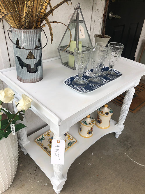 Antique table painted white