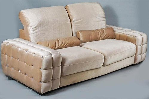 Girl Pad Fun!  Corby Mansion Contemporary Hollywood Regency Love Seat