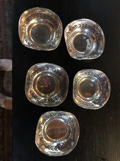 Antique sterling salt cellars 25.00 each