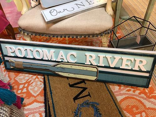 Potomac River paddle Club. Local artist will do custom work!