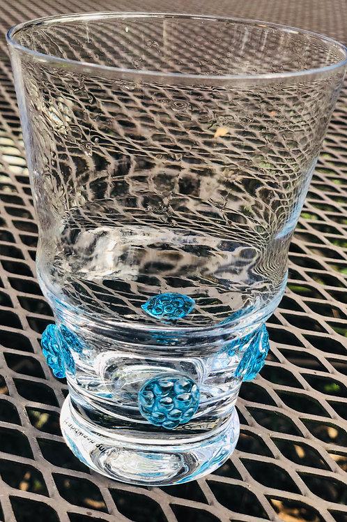Blue hydrangea glasses