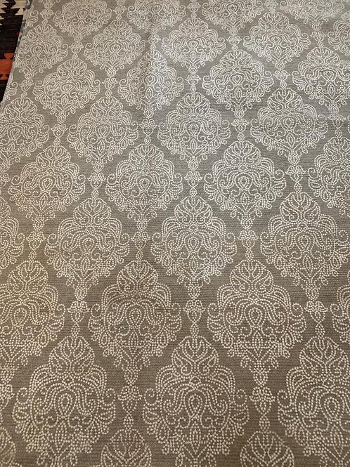 Taupe and cream cotton rug