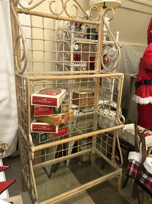 Super cute bentwood bakers rack