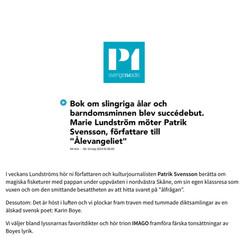 IMAGO gästar Lundströms Bokradio i P1