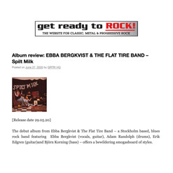 Ebba Bergkvist & The Flat Tire Band - recension i Get Ready To Rock