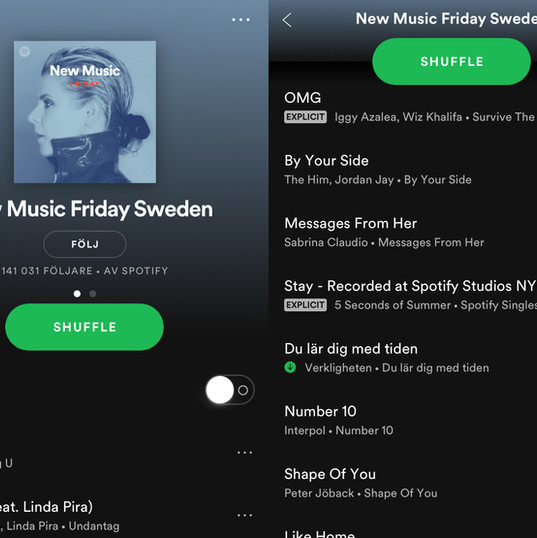 Verkligheten på New Music Friday Sweden